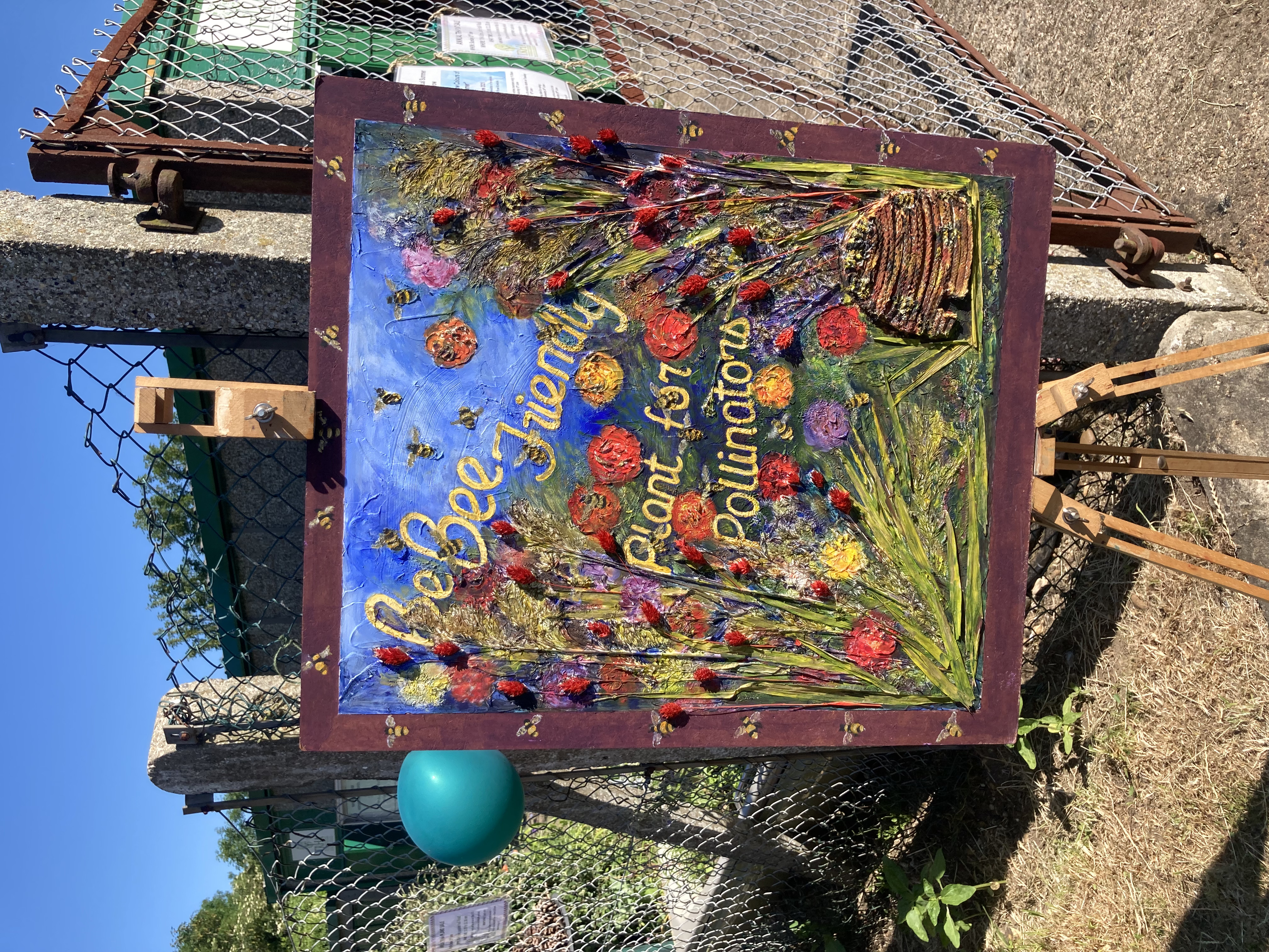 A pretty painting on display at the Plant Sale June 2021